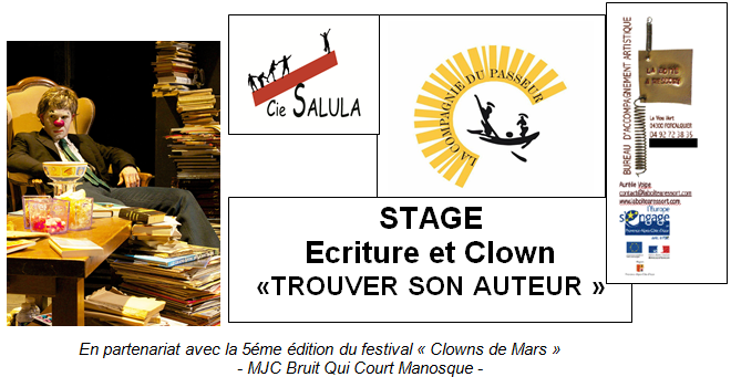 stage ecriture et clown entete